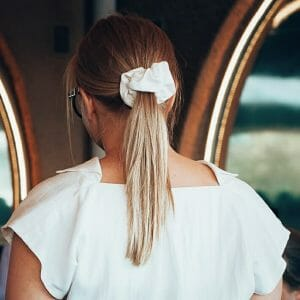 upcycled tencel scrunchie