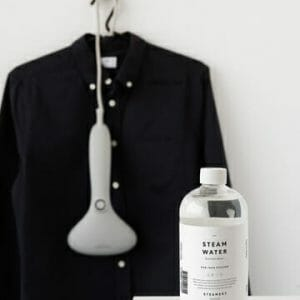 steamwater. destilled steamwater for all clothing steamers. Steamery stockholm sold at RESTYLE clothing care store.